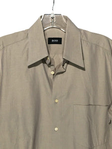 Hugo Boss Brown All Cotton Button Down Front Pocket Dress Shirt Mens Sz 15 32/33 - Preowned - FunkyCrap Boutique