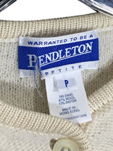 Vintage Pendleton '90s Cream Wool Rayon Cardigan Sweater Women's Size Petite P - Preowned - FunkyCrap Boutique