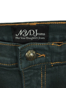 Not Your Daughters Jeans Boot Cut NYDJ Color Blue Gold Stitch Stretch Womens 8 - Preowned - FunkyCrap Boutique