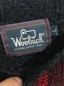 Woolrich Vintage Women's Wool Farm Autumn Harvest Pullover Sweater Women's L - Preowned - FunkyCrap Boutique