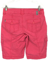 Jag Jeans Begonia 6 Pocket Pink Cargo Shorts Flap Pockets J1542103 Womens 8 - Preowned - FunkyCrap Boutique