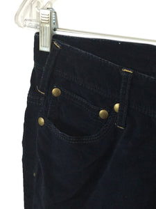 Free People Velvet Navy Blue Cotton Stretch Casual Pants Womens 0 Actual 27x28 - Preowned - FunkyCrap Boutique