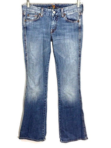 7 For All Mankind A-Pocket Light Wash Low Rise Women's 28 Actual 28x33 - Preowned - FunkyCrap Boutique