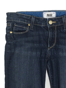 Paige Jeans Skyline Boot Cut Petite Cotton Stretch Blue Medium Wash Womens 27 P - FunkyCrap Boutique