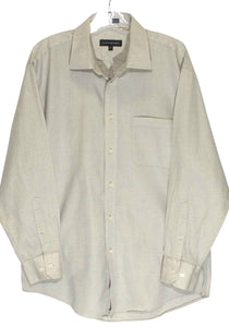 Jhane Barnes Gray Silver Pocket Button Down Dress Shirt Mens 16 32/33 - Preowned - FunkyCrap Boutique