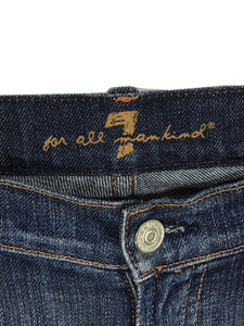 7 For All Mankind Boot Cut Dark Wash Low Rise Women's 26 Actual 28 x 31.5 - Preowned - FunkyCrap Boutique