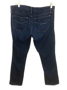 Gap 1969 Real Straight Jeans Dark Rinse Stretch Womens 29 / 8a 8 Ankle - Preowned - FunkyCrap Boutique
