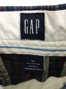 Gap Shorts Plaid Blue Yellow Red Green Preppy Summer Flat Front Cotton Mens 34 - Preowned - FunkyCrap Boutique