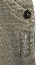 Silver Jeans Radar Denim Capris Gray Snap Flap Pockets Womens 27 Actual 28 x 20 - FunkyCrap Boutique