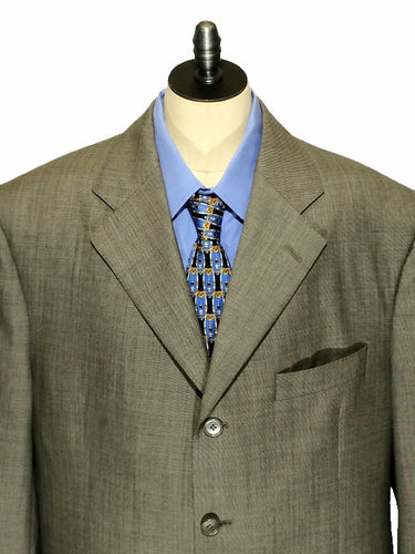 Faconnable Blazer Wool Beige Tan 3 Button Louis CT Suit Jacket Mens 42 S 42S - Preowned - FunkyCrap Boutique
