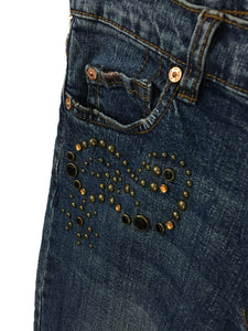 7 For All Mankind Great China Wall Jeans Studded Bling Womens 31 (29x31) - Preowned - FunkyCrap Boutique