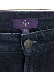 Not Your Daughter's Jeans NYDJ Dark Wash Straight Leg Women's Petites 6 P Ankle - FunkyCrap Boutique