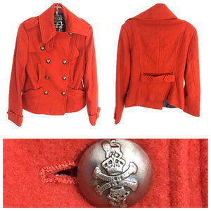 Millard Fillmore Pea Coat Military Jacket Metal Button Wool Blend Womens Small S - Preowned - FunkyCrap Boutique