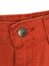 Lee Riveted Jeans Shorts Vintage Neon Orange USA Union High Waist Womens 12 M - Preowned - FunkyCrap Boutique