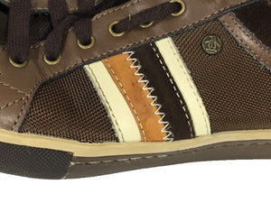 Original Penguin Thaw Mesh Brown Town Sneaker Lace Shoes Leather Upper Mens 10 - FunkyCrap Boutique
