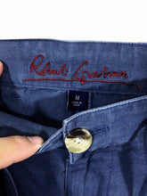 Robert Graham Cotton Twill Gray Khaki Draw String Casual Pants Men's M 30 x 30 - FunkyCrap Boutique