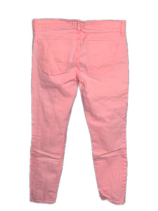 Current Elliott Jeans The Stiletto Bright Day Glow Pink Crop Stretch Womens 28 - FunkyCrap Boutique