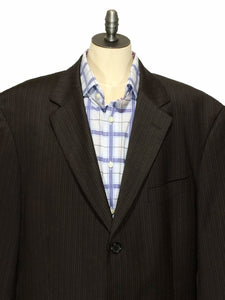 Hugo Boss Super 110s Einstein Sigma 3 Button Striped Blazer Jacket Mens 44L - Preowned - FunkyCrap Boutique