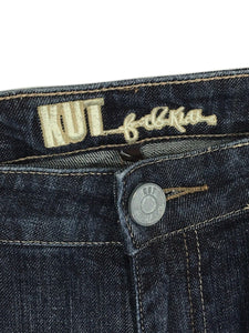 Kut from the Kloth Jeans Boot Cut Dark KP011AGM17 Thick Stitch Stretch Womens 8 - Preowned - FunkyCrap Boutique
