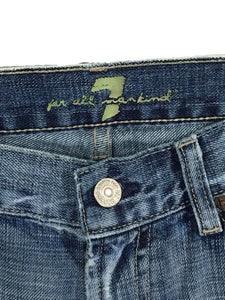 7 For All Mankind Boot Cut Light Wash Low Rise Women's 27 Actual 29 x 29 - Preowned - FunkyCrap Boutique