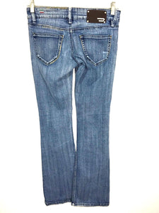 "Diesel Jeans ""Lowky"" Light Wash Low Rise Flare Leg Women's 25 x 32 Actual 26x31 - Preowned - FunkyCrap Boutique"