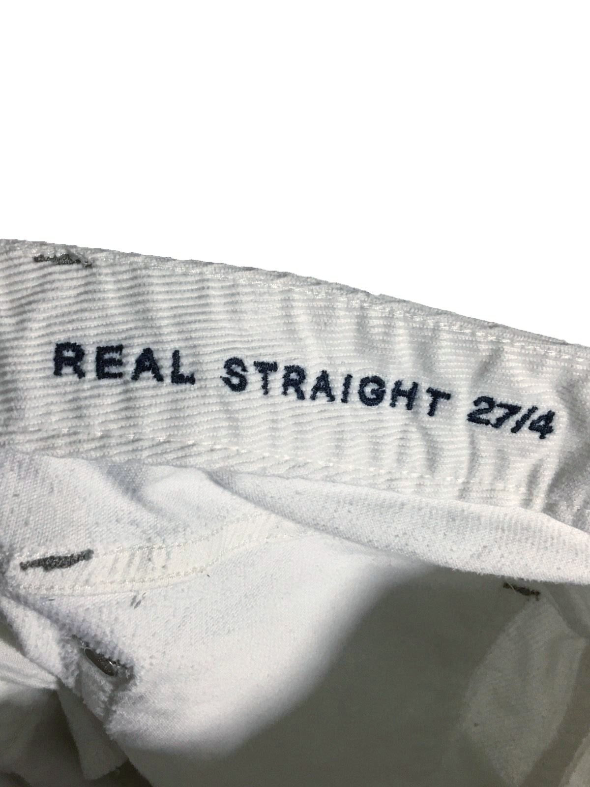 buy sale united kingdom fine craftsmanship Gap 1969 Real Straight Corduroy Jeans Snow White Womens 27 / 4 R Actual 29  x 32 - Preowned