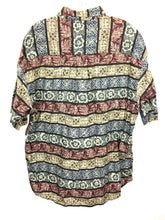 Woolrich Hawaiian Aztec Floral Safari Striped Cotton Button Down Shirt Mens XL - Preowned - FunkyCrap Boutique