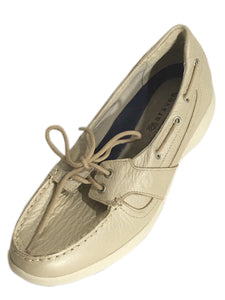 New Balance Aravon Vibram Boat Shoes Loafers Tan Cream Slip Flats Womens 6.5 D - Preowned - FunkyCrap Boutique