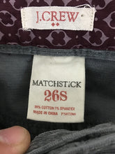 J Crew Gray Matchstick Jeans Skinny Leg Corduroy Womens 26S Actual 29 x 30.5 NWT - FunkyCrap Boutique