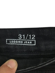 Gap Jeans 1969 Legging Jeans Stretch Faded Black Womens 31 / 12 Actual 35 x 30 - Preowned - FunkyCrap Boutique