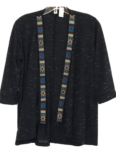 BKE Aztec Shawl Cardigan Tribal Southwestern 3/4 Sleeves Open Drape Womens XS - Preowned - FunkyCrap Boutique