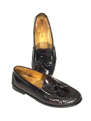 Cole Haan Made in Italy Tassel Loafers Dress Shoes Brown Leather Men's Size 8 D - Preowned - FunkyCrap Boutique