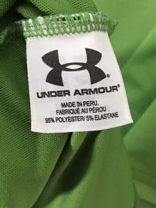 Under Armour UA Fox Meadow Country Club Green Polyester Golf Polo Shirt Mens L - Preowned - FunkyCrap Boutique