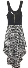 Urban Outfitters Reverse Dress Cut Out High Low Black White Grey Womens Small S - Preowned - FunkyCrap Boutique