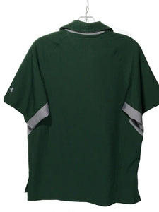 Under Armour UA Green Gray Heat Gear Polyester Button Down Polo SS Shirt Mens XS - Preowned - FunkyCrap Boutique