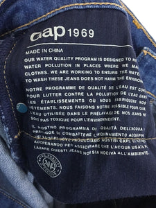 Gap Jeans 1969 Girlfriend Medium Indigo Stretch Women's Size 26 Actual 29 x 28 - Preowned - FunkyCrap Boutique