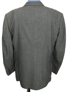 John Varvatos Blazer Suit Jacket Made Italy Gray Black Wool 3 Button Mens 42 R - Preowned - FunkyCrap Boutique