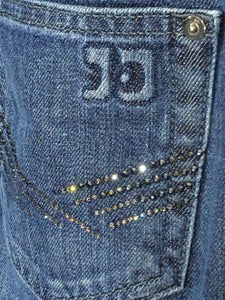 Joe's Jeans Honey Boot Cut Dark Hedrin Wash Bling Studs Womens 25 Actual 27 x 33 - Preowned - FunkyCrap Boutique