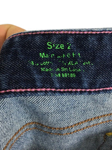 Lilly Pulitzer Jeans Main Line Fit Sewn L Logo Pockets Dark Boot Cut Womens 2 - Preowned - FunkyCrap Boutique