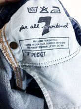 7 For All Mankind A Pocket Studded Sequin Jeans Womens 26 Measures 28 x 32 - Preowned - FunkyCrap Boutique