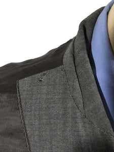 John Varvatos Blazer Suit Jacket Made Italy Gray Black Wool 3 Button Mens 42 R - Preowned