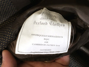 Oxxford Clothes Cambridge Jacket D14 Gothard Double Breasted Blazer Men 41R 41 R - FunkyCrap Boutique
