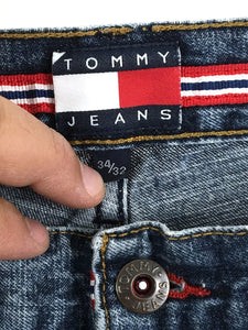 Tommy Hilfiger Tommy Jeans Spellout Belt Loop Logo Front Pocket Ero Mens 34 x 32 - Preowned - FunkyCrap Boutique