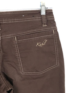 Kuhl Camping Hiking Outdoor Travel Pants Jeans Brown Womens 6 - Preowned