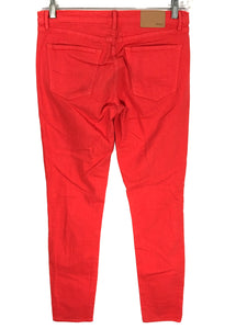 Madewell Skinny Skinny Jeans Coral Orange Red Stretch Pants Womens 28 x 32 - Preowned - FunkyCrap Boutique