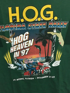 Harley Davidson 1997 Harley Owners Group HOG Heaven Ft Myers Florida State Rally Shirt Mens Medium M - Preowned - FunkyCrap Boutique