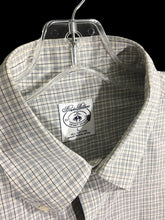 Brooks Brothers Sports Shirt Cotton Beige Plaid Button Front Pocket Shirt Mens L - Preowned - FunkyCrap Boutique