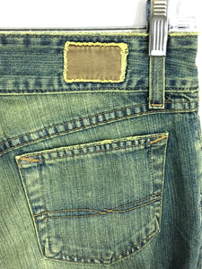 BKE Jeans Culture Green Wash Flare Cotton Irregular Womens 28 x 31.5 Size 6 - Preowned - FunkyCrap Boutique