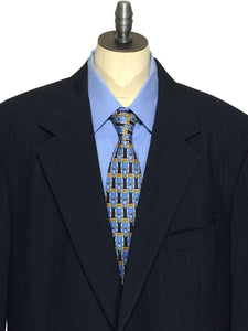Brooks Brothers USA Blue Striped Suit Jacket Sport Coat Blazer Mens 42 Long 42L - Preowned - FunkyCrap Boutique