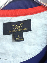 Brooks Brothers Blue Polo Red Lobster Shirt Preppy Nautical Cotton Mens Large L - Preowned - FunkyCrap Boutique
